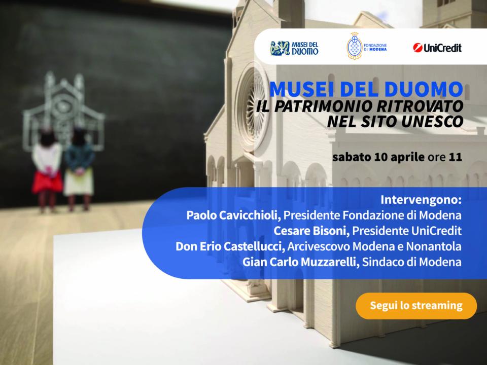 10.04.2021 Conferenza stampa sul progetto di ampliamento dei Musei del Duomo